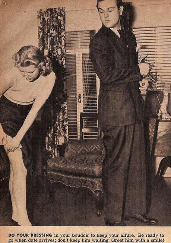 12 conseils sexistes issus des années 30, qui vous apprendront à bien vous comporter en présence d'un homme... Arrachage de cheveux garanti ! (2)