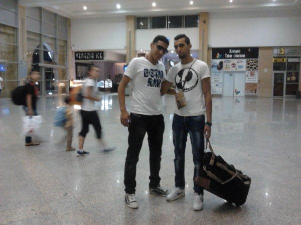 with my friend amine