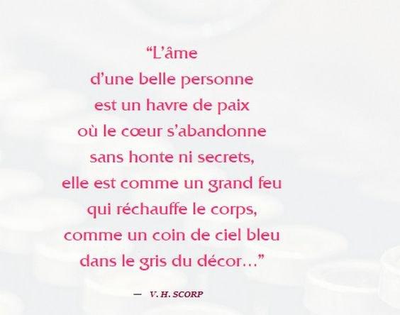 L'ÂME D'UNE BELLE PERSONNE...