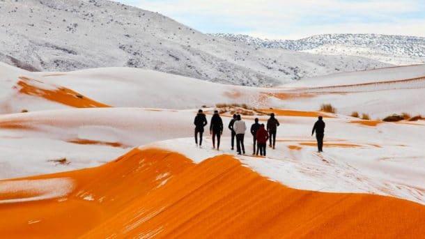 Neige au Sahara.....!!!!! ^_^