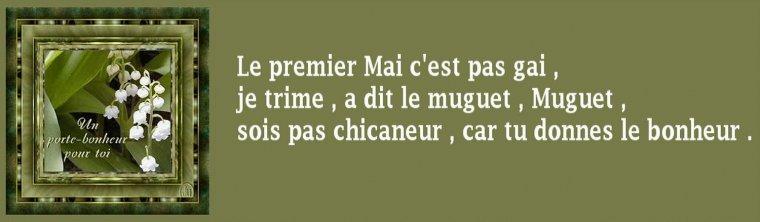 """"""" Au premier mai, fleurit le bon muguet. """" // pour vous"""