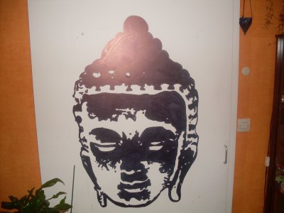 Tete De Bouddha Noir Et Blanc Blog De Decorateurmural