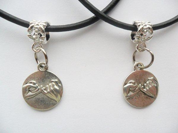 2 Pinky Promise Swear Best Friends necklaces