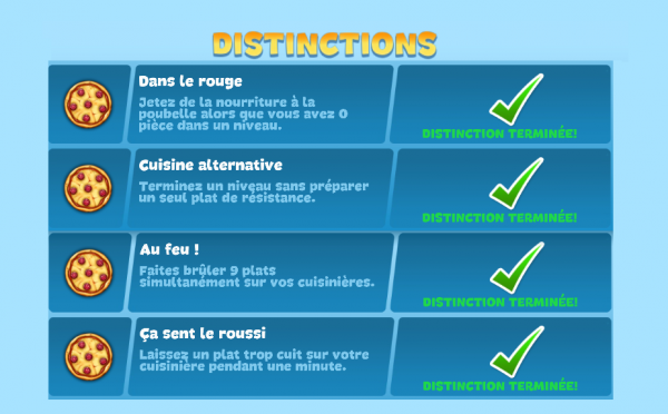 Distinctions - Récompenses Secrètes