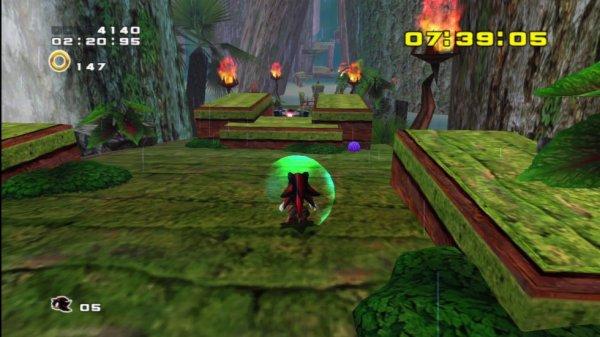 Ecran de jeu Sonic et Shadow