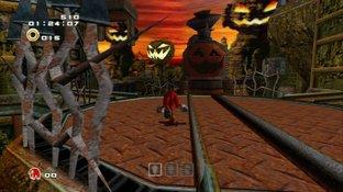 Ecran de jeu Knuckles et Rouge