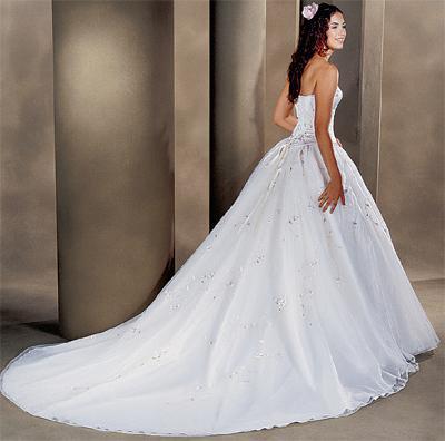 Le voile de la robe blanche