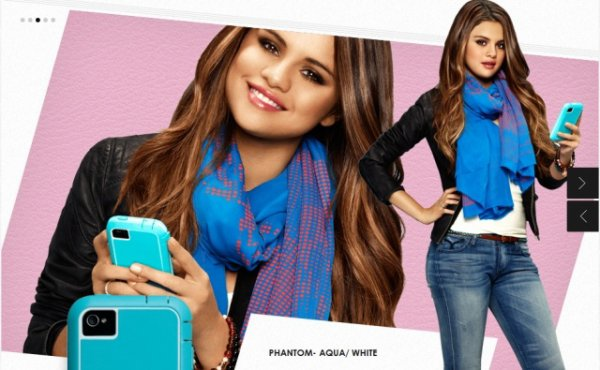 photoshoot de selena pour case-mate