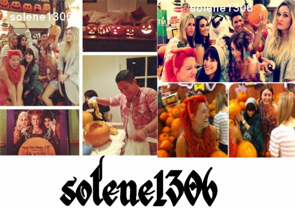 selena prepare halloween + magasine + fan