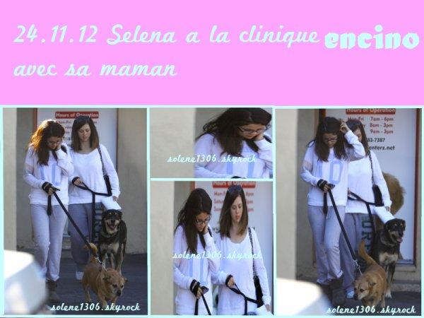 Selena a la clinique ENCINO avec sa maman Mandy