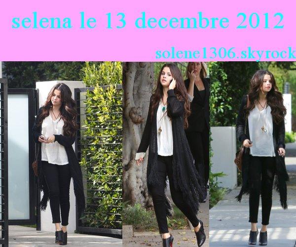 Selena gomez ( 13 et 15 decembre ) + une photo personnelle