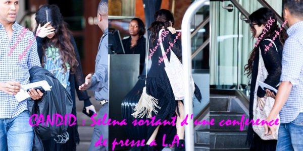 Le 26/02/13 : Selena a été vue sortant d'une conference de presse a Los Angeles + Spring_Breakers