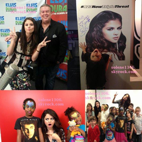 Le 24/04/13 : Selena a plusieurs radio