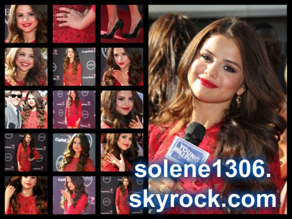Selena gomez , soirée ESPY AWARD, album .....