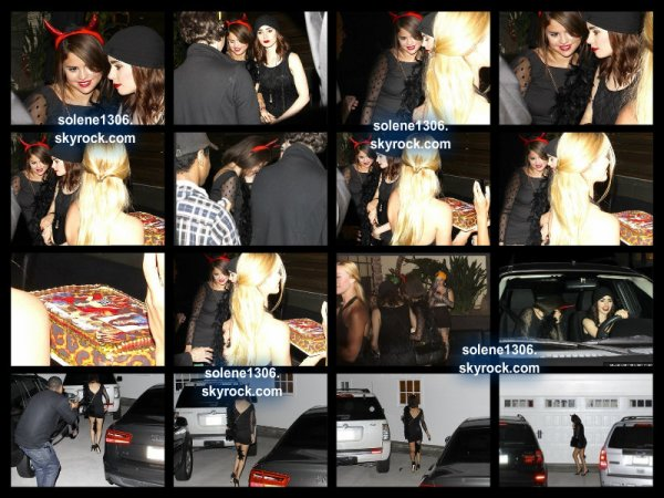 Selena et Lily collins a la fête de julianne hough, photo personnelle et clip =)