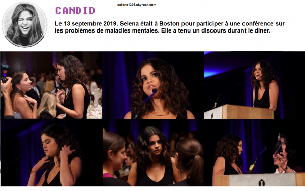 Entre Boston et Los Angeles, Selena nous en met pleins la vue.