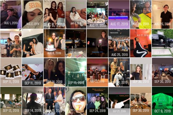 Recapitulatif de l'année 2019 de Selena sur Instagram
