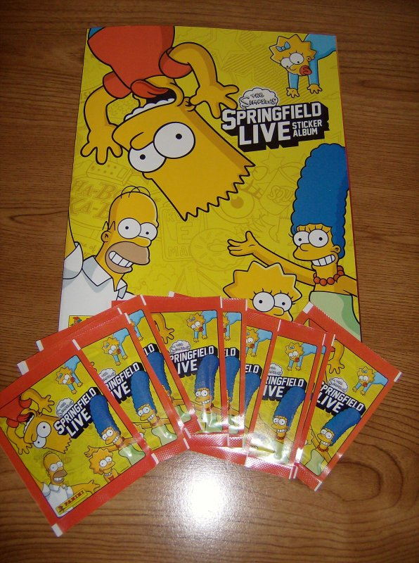"Album Panini: ""The Simpsons - Springfield Live"""