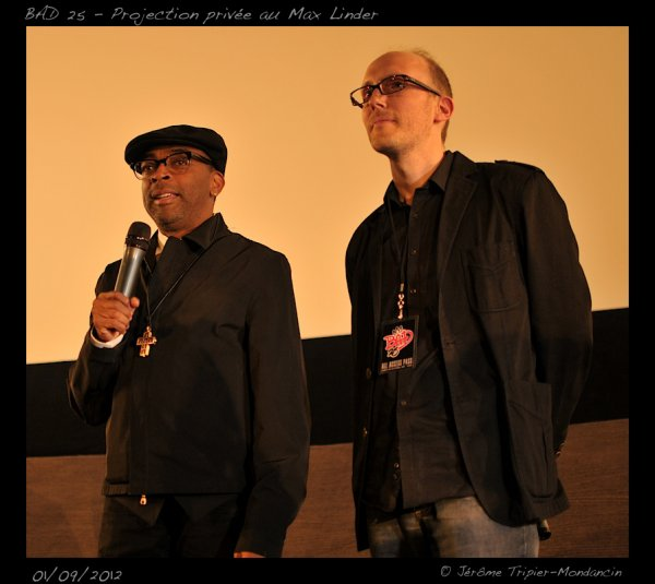 SPIKE LEE A PARIS POUR BAD 25 LE 01/09