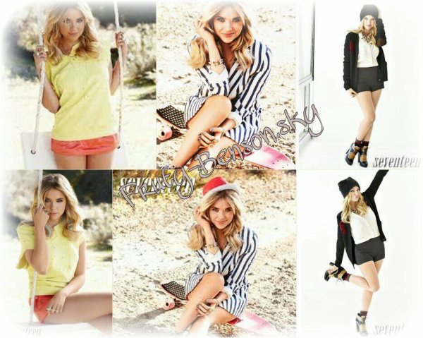 ♦ Ashley a réalisè un photoshoot pour la collection FAVIANA et pour le magazine Seventeen ♦