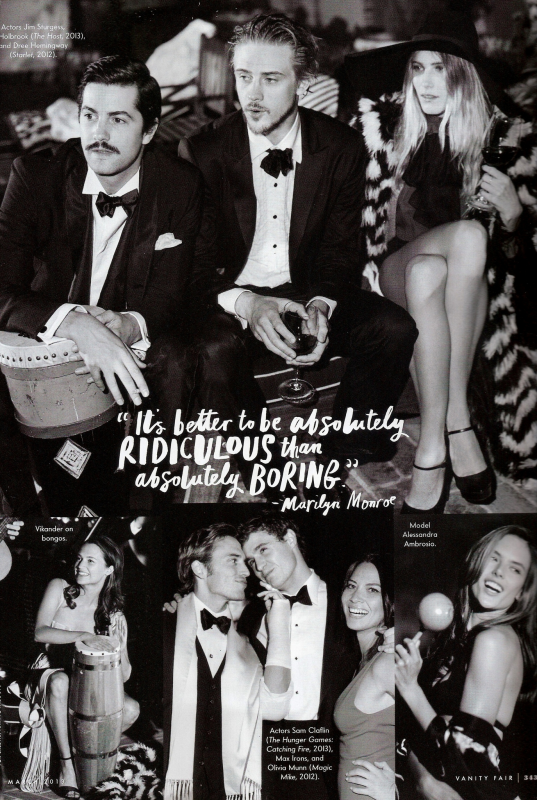 "Photoshoot De Boyd Holbrook (Kyle O'Shea) & Max Irons (Jared) Pour ""Vanity Fair"""