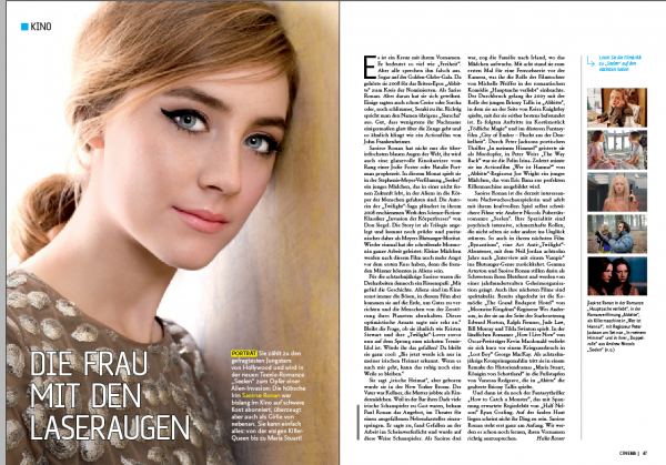 "Portrait & Interview de Saoirse pour le magazine "" Kinopolis Germany"""