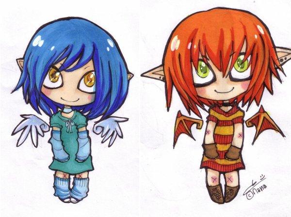 Blog de dessins manga de mana page 6 les dessins de - Dessin ange demon ...