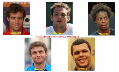 GASQUET VS MATHIEU VS MONFILS VS SIMON VS TSONGA