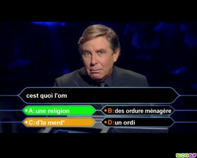 question pour un couillon