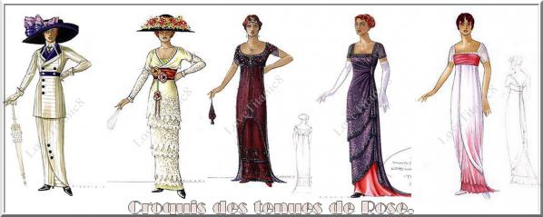 """""""Dans l'histoire, Rose vient de faire les magasins à Paris, ses tenues doivent donc être à la toute dernière mode.""""- Deborah Scott"""