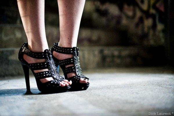 Chaussures noir cloutées