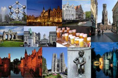 Carte géographique et touristique de la Belgique, Bruxelles ...