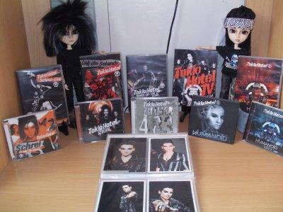 Les Mini Kaulitz avec tout les DVD et CD