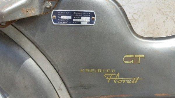 VEND PARTIE CYCLE KREIDLER FLORETT GT 1967 COMPLETE