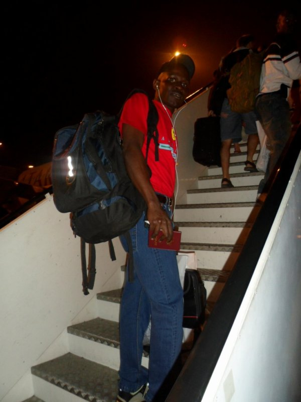 On my way to Africa my motherland