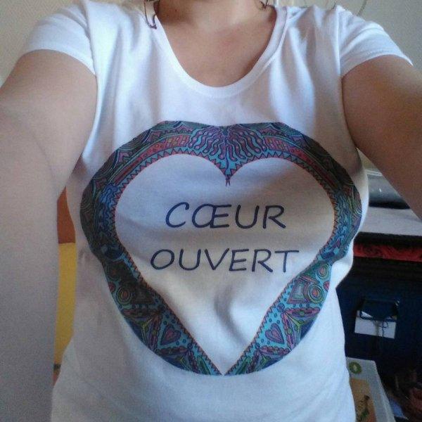 """craquez pour le premier t-shirt Melogo """"coeur ouvert"""""""