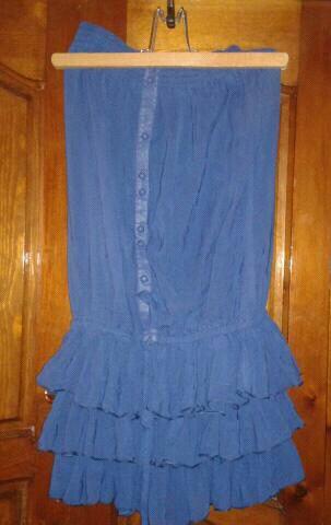 robe bleu roi courte bustier elastique