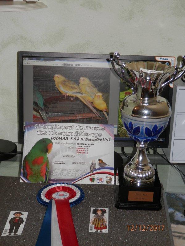 Récompense CH. de France + Région Centre-Ouest ( Challenge Euphèmes )