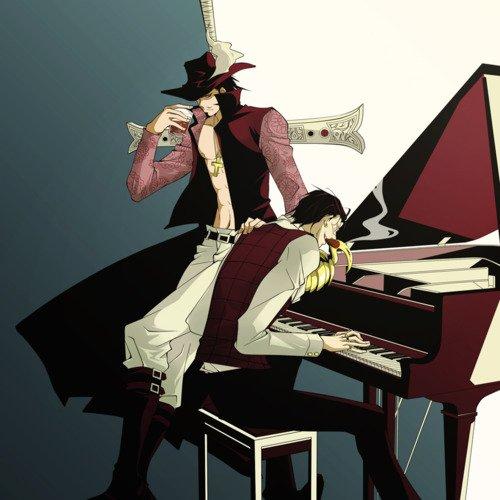 Crocodile qui joue du pianot