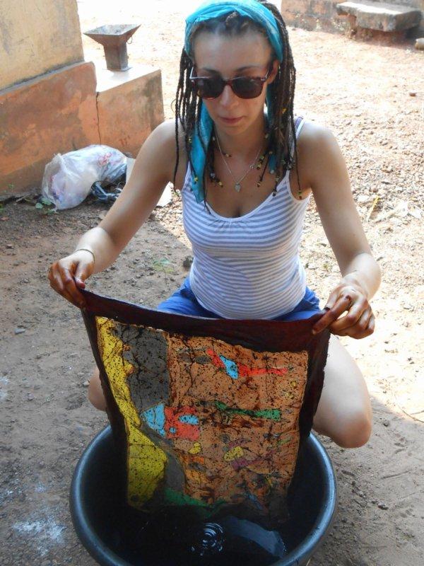 lavage du batik