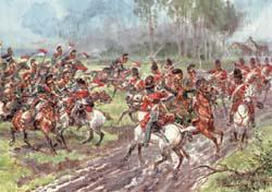 Charge de cavalerie a Waterloo