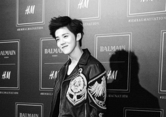151104 151104 BALMAIN X H&M Designer Collaboration China Release Party - Luhan