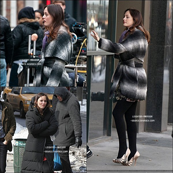 07 FEVRIER 2011 : Leighton sur le tournage de Gossip girl .