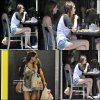 """. 31 mai 2011 : Leighton à été vue déjeunant à """"kings road cafe"""" . ."""