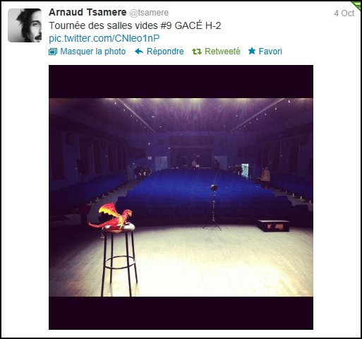 4/10/2012 - Spectacle d'Arnaud Tsamere : Chose Promise