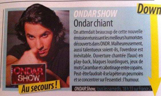 De mauvaises nouvelles pour ONDAR Show...