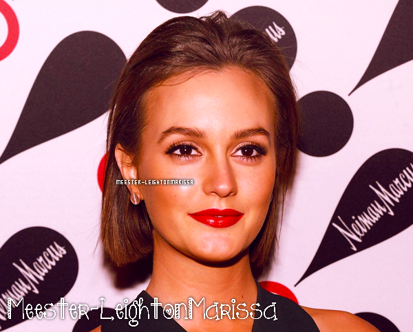 __ 28 Nov. 2012 : Leighton au lancement de la collection Target + Neiman Marcus à New York. __
