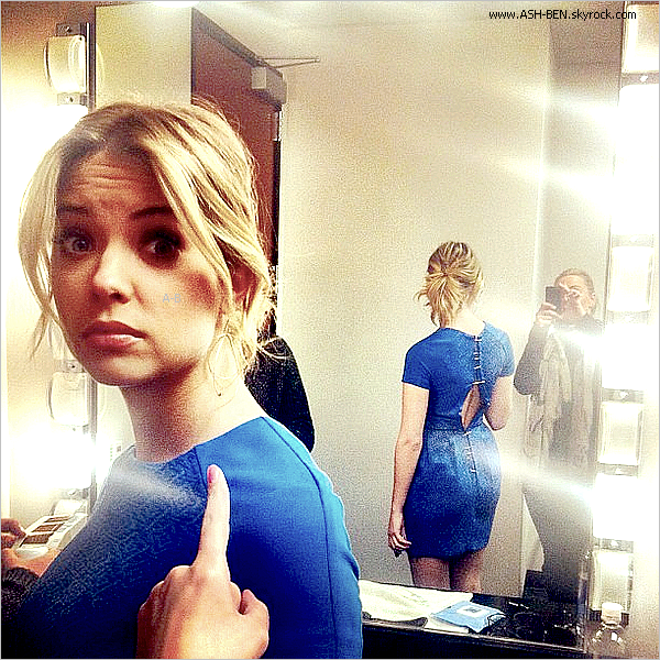 GOOD DAY L.A! . Ce 23 Janvier 2012, Ashley était sur le plateau de 'GOOD DAY L.A'! Ash' est vraiment belle, j'adore sa robe bleu, elle lui va très bien et puis elle est hyper souriante.. Enorme TOP! + Photo provenant du twitter d'ash' accompagné de ce message : 'Uh oh. Dress ripped. Ahhhh currently being safety pinned into my dress. Gotta love it.' En français : 'Uh oh. Robe déchiré. Ahhhh actuellement la sécurité a épinglé sur ma robe. Doit l'aimer.- Et vous, qu'en pensez-vous ? :).