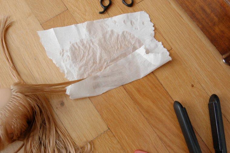 nettoyage cheveux et lissage des pointes fourchues