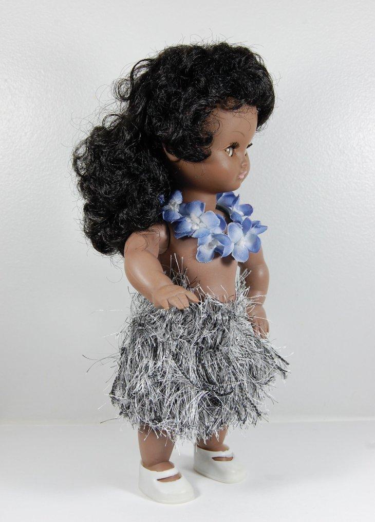 poupée bella noire 25 cm en vahiné